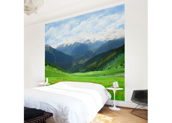 Fliis fototapeet Alpine meadow