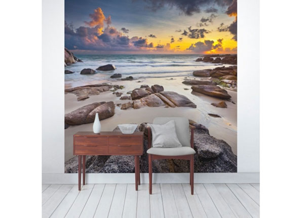 Fliis fototapeet Beach sunrise in Thailand