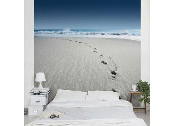 Fliis fototapeet Footprints in the sand