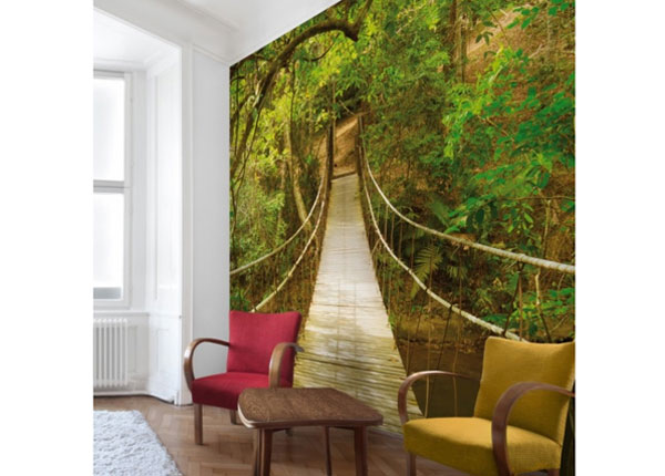 Fliis fototapeet Jungle bridge