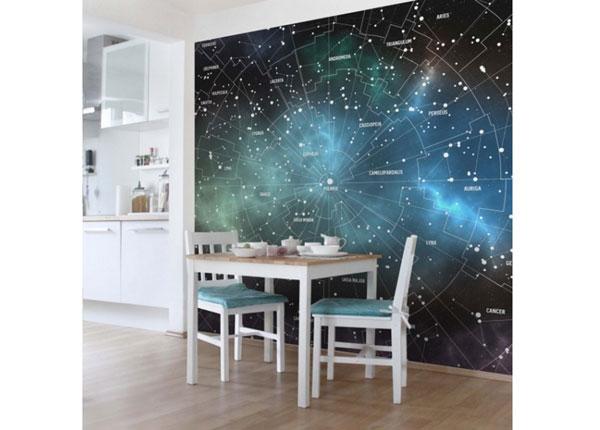 Fliis fototapeet Constellations Map Galaxy Fog