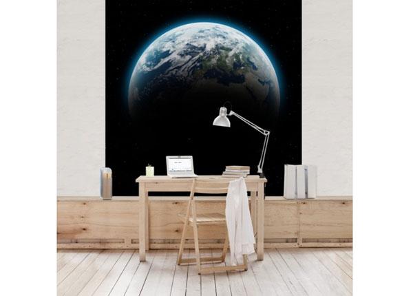 Fliis fototapeet Illuminated Planet Earth