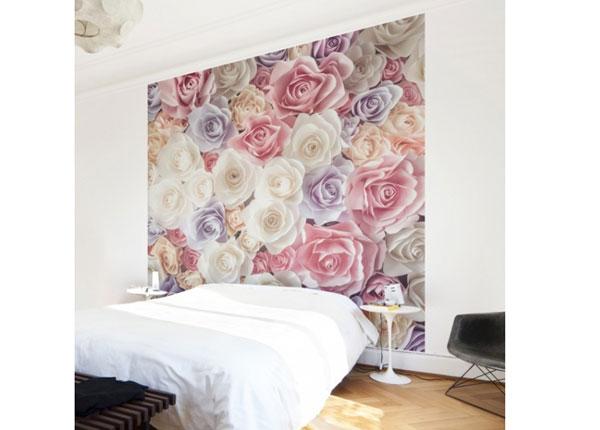 Fliis fototapeet Pastel Paper Art roses ED-136678