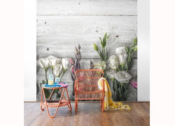 Fliis fototapeet Tulip Rose Shabby wood look ED-137508