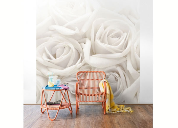 Fliis fototapeet White Roses ED-137634