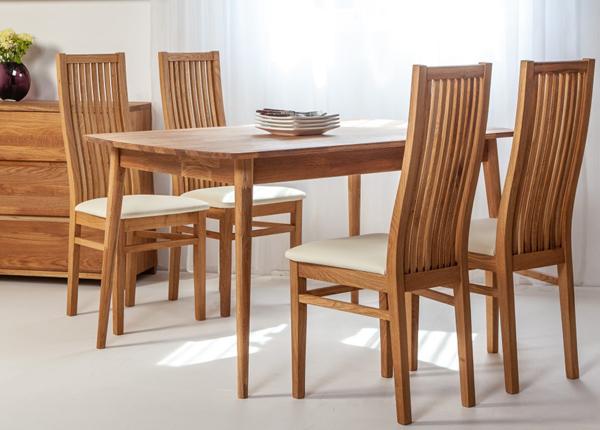 Tammepuust söögilaud Scan 140x90 cm+ 4 tooli Sandra EC-138002