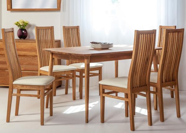 Tammepuust söögilaud Scan 140x90 cm+ 6 tooli Sandra EC-138004