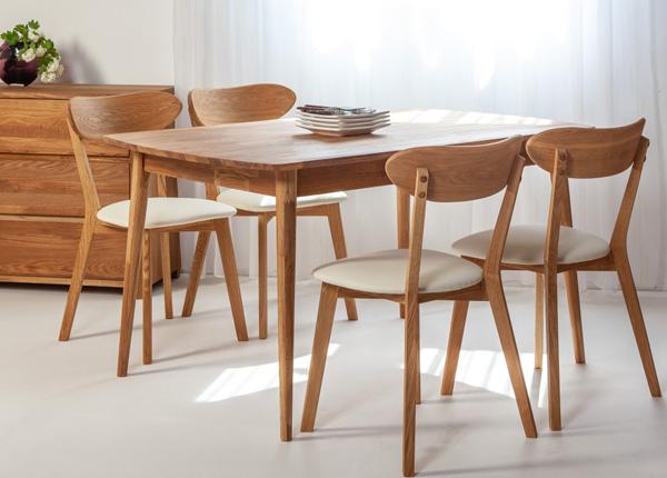 Tammepuust söögilaud Scan 140x90 cm+ 4 tooli Irma EC-138005