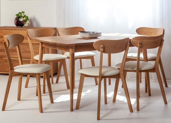 Tammepuust söögilaud Scan 140x90 cm+ 6 tooli Irma EC-138006