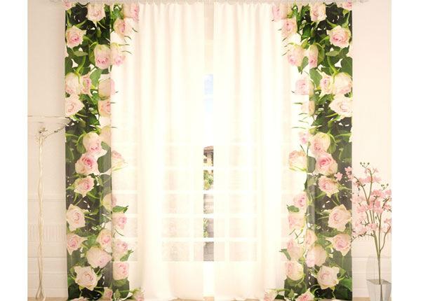 Tüllkardinad Hug of White Roses 290x260 cm AÄ-138233