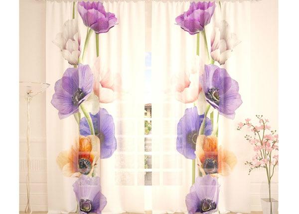 Tüllkardinad Colourful Flowers 290x260 cm AÄ-138244