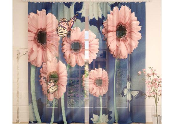 Tüllkardinad Pink Summer 290x260 cm AÄ-138249