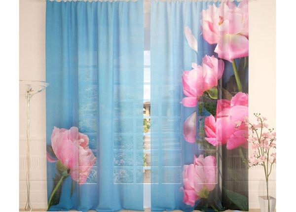 Tüllkardinad Fresh Pink Pions 290x260 cm AÄ-138252