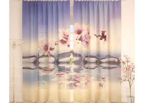 Tüllkardinad Plum Flowers 290x260 cm AÄ-138254
