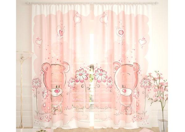 Tüllkardinad Pink Bears 290x260 cm AÄ-138261