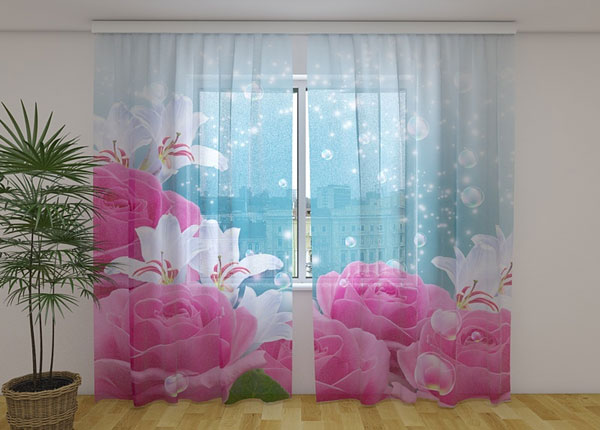 Poolpimendav kardin Fluffy Roses 240x220 cm ED-138503