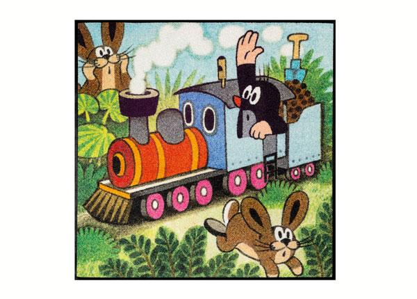 Vaip Der kleine Maulwurf - fährt Zug 85x85 cm A5-138653