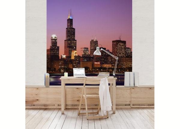 Fliis fototapeet Chicago Skyline