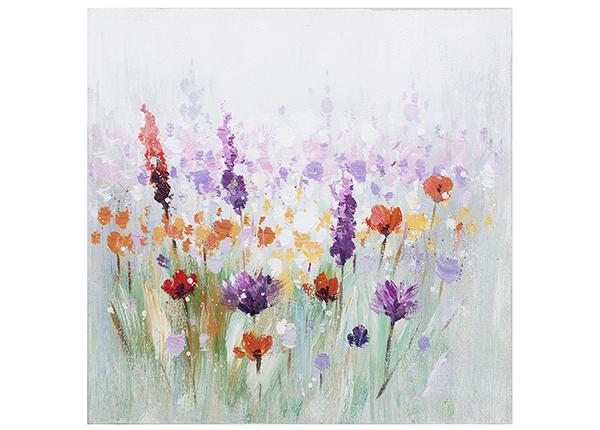 Õlimaal Värvilised lilled 30x30 cm EV-139363