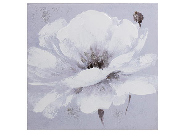 Õlimaal Valge lill 30x30 cm EV-139365