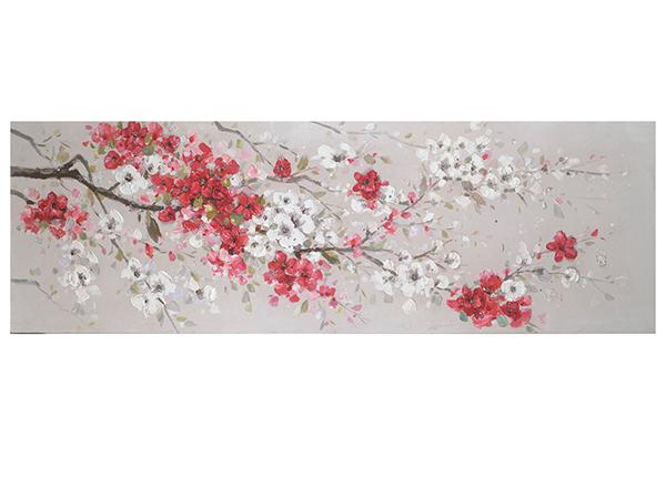 Õlimaal Punased kirsiõied 50x150 cm EV-139376