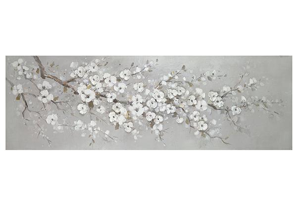 Õlimaal Valged kirsiõied 50x150 cm EV-139377