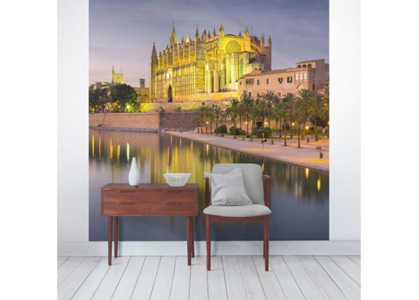 Fliis fototapeet Catedral de Mallorca water reflection ED-139420