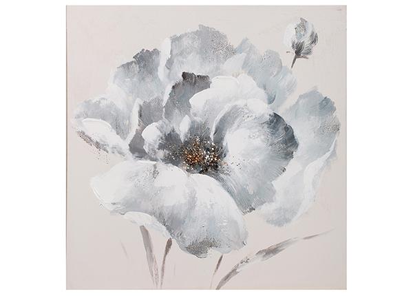 Õlimaal Valge lilleõis 60x60 cm EV-139444