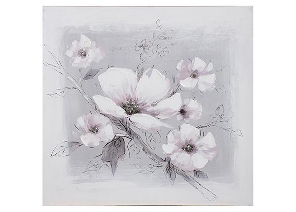 Õlimaal Valged lilled 60x60 cm EV-139445