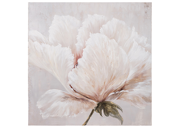 Õlimaal Valge lill 100x100 cm EV-139489