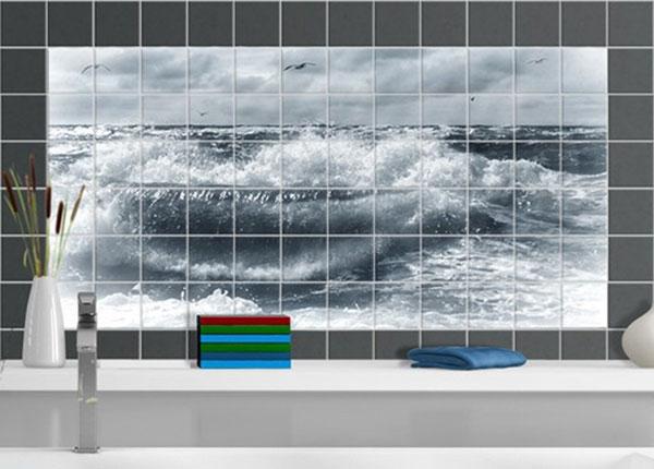 Kleebised seinaplaatidele, Living North Sea, 60x120 cm