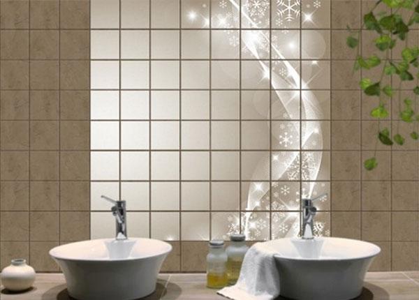 Kleebised seinaplaatidele Snow sparkle 120x120 cm