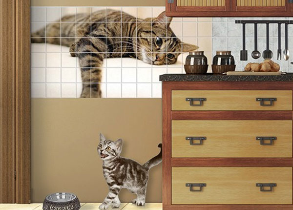 Kleebised seinaplaatidele Cat Chill Out 60x120 cm
