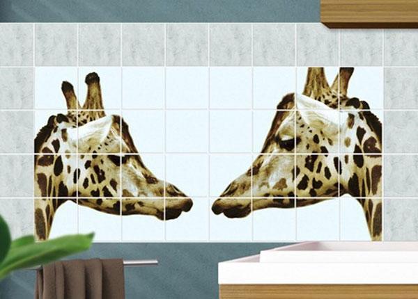 Kleebised seinaplaatidele Giraffes In Love 60x120 cm