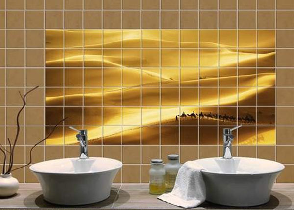 Kleebised seinaplaatidele Golden Dunes 60x120 cm