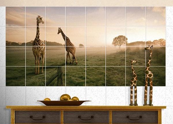 Kleebised seinaplaatidele Surreal Giraffes 60x120 cm