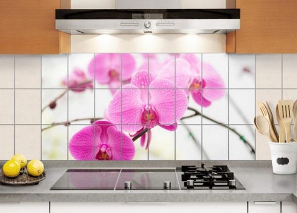 Kleebised seinaplaatidele Close-up of orchid 60x120 cm