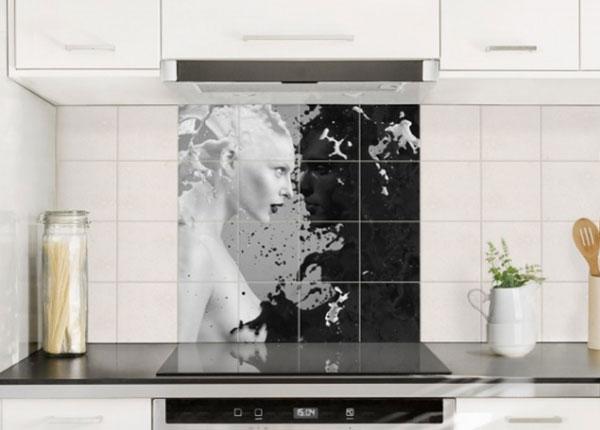 Kleebised seinaplaatidele Milk & Coffee II, 120x120 cm