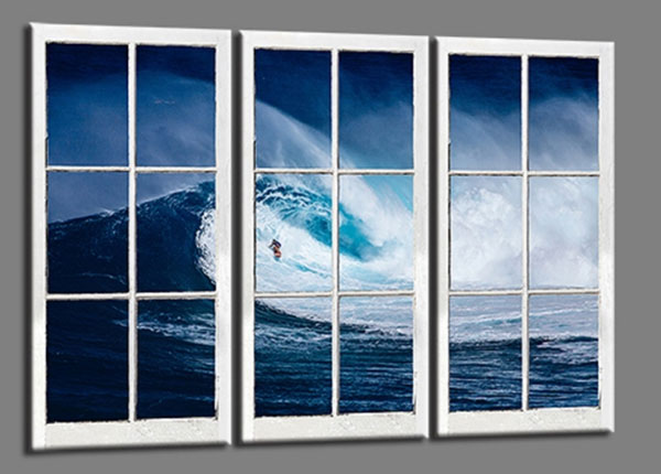 Kolmeosaline seinapilt Surfer Wave 120x80 cm ED-139732