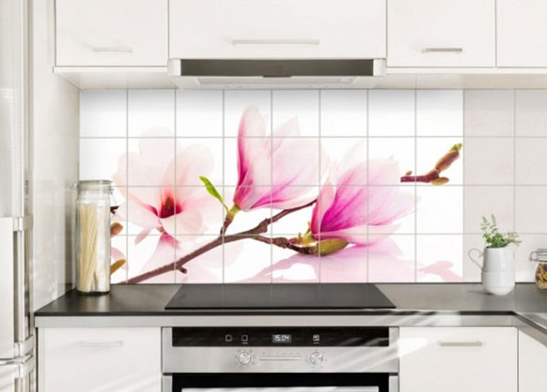 Kleebised seinaplaatidele Delicate magnolia branch 60x120 cm