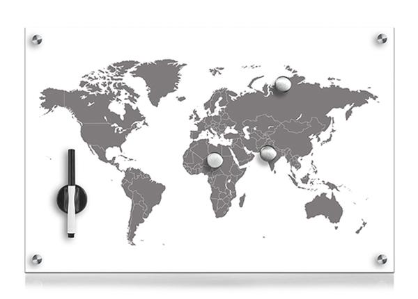 Klaasist memotahvel Worldmap GB-140172