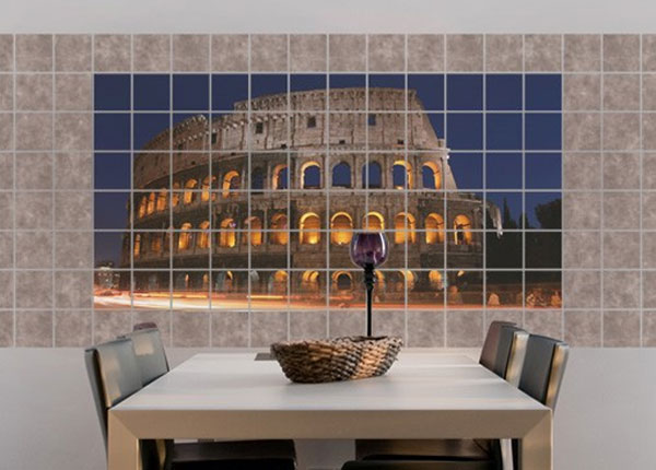 Kleebised seinaplaatidele Colosseum in Rome at night 60x120 cm ED-140489