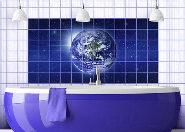 Kleebised seinaplaatidele Earth in space 60x120 cm ED-140491