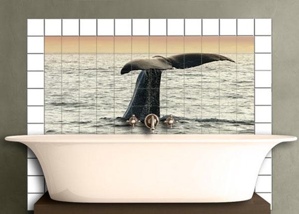 Kleebised seinaplaatidele Diving Whale 60x120 cm