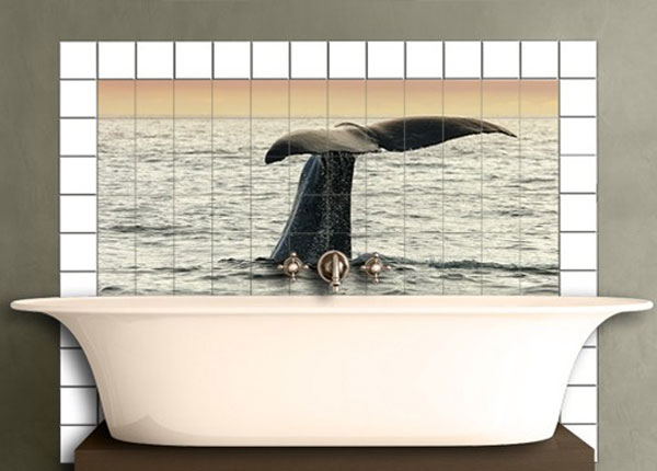 Kleebised seinaplaatidele Diving Whale 60x120 cm ED-140497