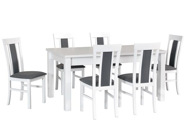 Pikendatav söögilaud + 6 tooli CM-140515