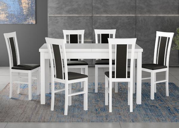 Pikendatav söögilaud + 6 tooli CM-140521