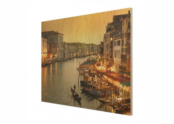 Seinapilt puidul Grand Canal of Venice ED-140708