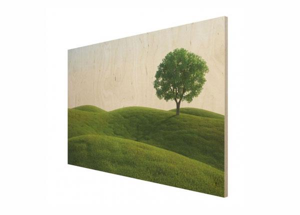 Seinapilt puidul Green peace ED-140723