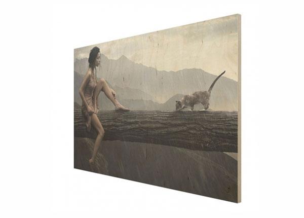 Seinapilt puidul Jane in the Rain ED-140919